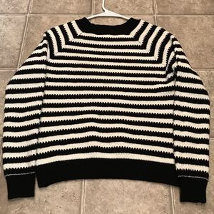 Forever 21 striped crewneck womens small